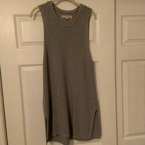 LOFT Sleeveless Gray Sweater. Size XL
